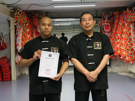 Laoshi Dennis Guerrero with chief instructor and founder Da Sifu Louis Linn